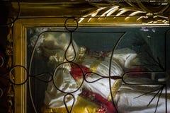 Skeletachtige overblijfselen van St Vittoria stock fotografie