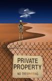 Skeletal Figure in Desert Royalty Free Stock Photos