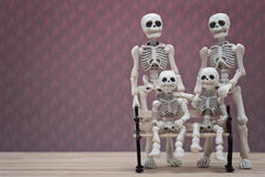 Skeletfamilie Royalty-vrije Stock Foto