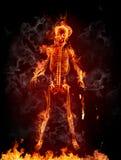 Skeleton. Burning skeleton on black background Stock Photography