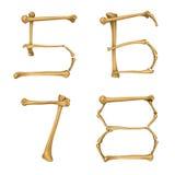 Skeleton Alphabet Nr. 5-8 stock abbildung