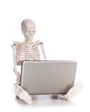 Skeleton Arbeiten Lizenzfreies Stockfoto