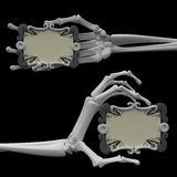 Skeleton Arm, Scroll Signs Royalty Free Stock Photo