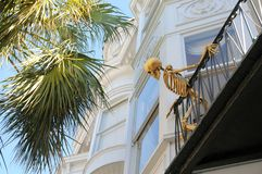Skeleton on the balcony Royalty Free Stock Photos
