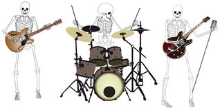 Skeleton_Band Fotografie Stock