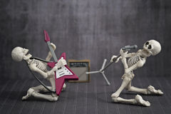Skeleton Band lizenzfreies stockfoto