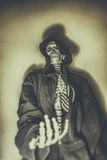 Skeleton Beggar Royalty Free Stock Photo
