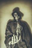 Skeleton Bettler Lizenzfreies Stockfoto