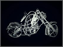 Skeleton Bike. An imitation picture of bicycle made from wire stock images