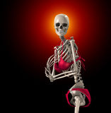 Skeleton In A Bikini Royalty Free Stock Photography