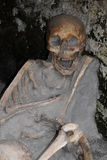 Skeleton in Boat Shed, Herculaneum Archaeological Site, Campania, Italy Royalty Free Stock Photo