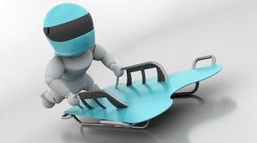 Skeleton bobsleigh Stock Photos
