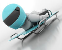 Skeleton Bobsleigh Lizenzfreie Stockbilder