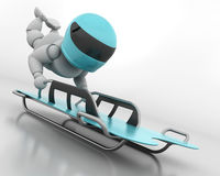 Skeleton bobsleigh Royalty Free Stock Photo
