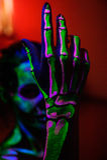 Skeleton bodyart with blacklight Royalty Free Stock Photography