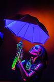 Skeleton bodyart with blacklight Stock Photography