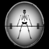 Skeleton Bodybuilder Stock Images
