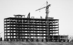 The skeleton of a building. Being built Stock Photo