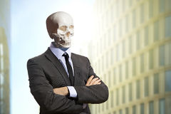 Skeleton in business suit Royalty Free Stock Image