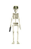Skeleton Business Worker. Skeleton acting like a businessmen holding a briefcase Royalty Free Stock Image