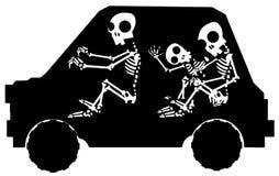 Skeleton Car Stencil Stock Photos