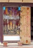 Skeleton carpet with swastikas Royalty Free Stock Photo