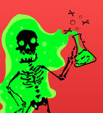 Skeleton Caustic Royalty Free Stock Photo