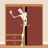 Skeleton in the closet Stock Photo