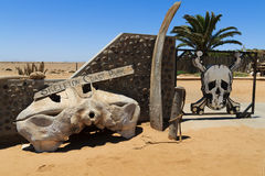 Skeleton coast gate Royalty Free Stock Image