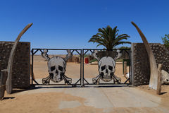 Skeleton coast gate Royalty Free Stock Photos