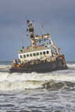 Skeleton coast Namibia. A relict of a ship in the skeleton coast in Namibia royalty free stock photos
