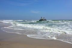 Skeleton coast, Namibia. Shipwreck on the skeleton coast, Namibia royalty free stock photography