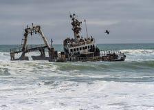 Skeleton Coast Park. The Skeleton Coast Park of Namibia stock photos