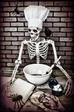 Skeleton Cooking Stock Photo
