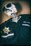 Skeleton Cop Stock Photography