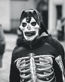 Skeleton suit halloween royalty free stock images