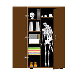 Skeleton in the cupboard Royalty Free Stock Photos