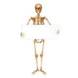 Skeleton darstellendes Zeichen lokalisiert mit freiem Raum Stockfoto