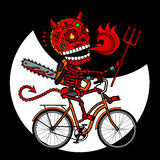 Skeleton Devil Bike Royalty Free Stock Images