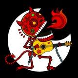 Skeleton Devil Serenade Royalty Free Stock Photography