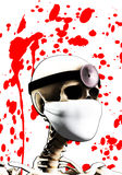 Skeleton Doctor. Close up image of a skeleton doctor Royalty Free Stock Image