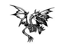 Skeleton dragon illustration Royalty Free Stock Photos