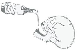 Skeleton drinking Stock Image