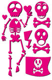 Skeleton emo icon set Stock Photos