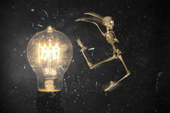 Skeleton Escape Lightbulb Stock Image
