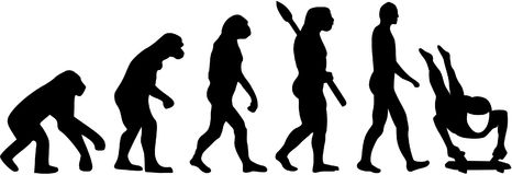 Skeleton evolution. Vector sports icon Stock Photography