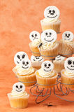 Skeleton Face Cupcakes Stock Photos