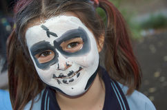 Skeleton Face Painting Royalty Free Stock Images