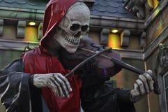 Skeleton fiddler death Royalty Free Stock Photos