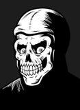 Skeleton Fiend. A hooded skeleton black and white illustration Stock Photo